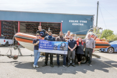 Colne Tyre Centre with \'Pendle Witch\' from Burnley Sub Aqua Club