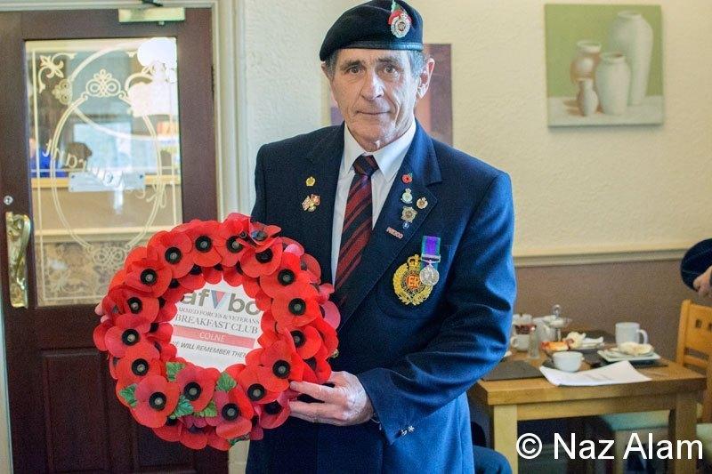Jim Ellis - displaying the wreath