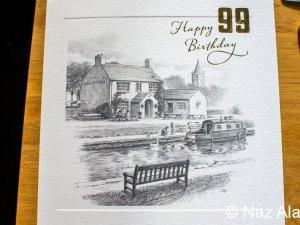 99th Birthday Card for Francis Brindle