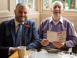 Andrew Stephenson MP and veteran Francis Brindle.