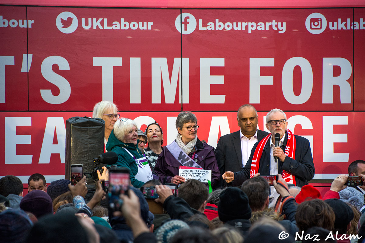 Labour Party: Jeremy Corbyn visit to Nelson 10 Dec 2019