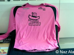 The pink football kit used back in 2010
