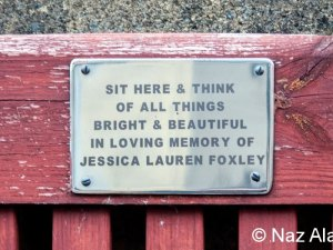 Bench plaque - Jessica Foxley