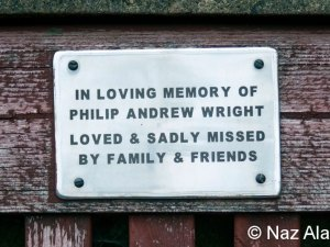 Bench plaque - Philip Wright